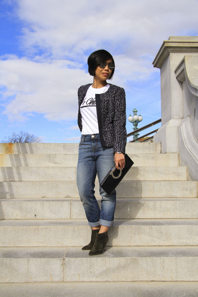 d6a1fe5cc61 How to style your tweed jacket - SamCora   A Fashion, Travel and ...