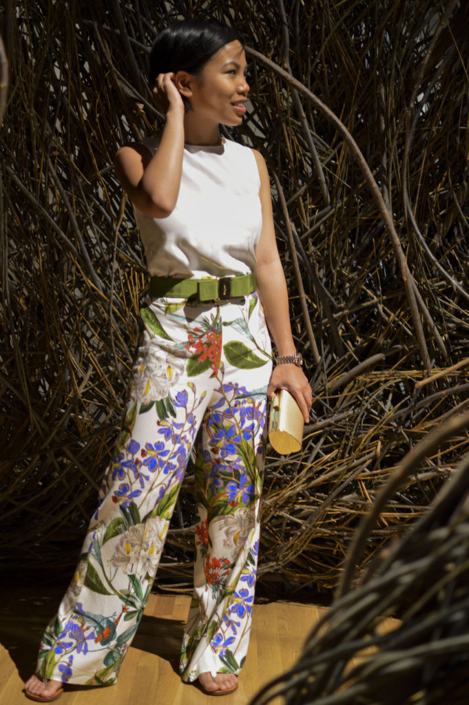 In The Bird S Nest Floral Print Trousers Samcora A