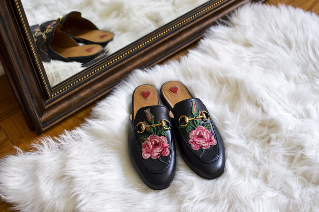 Gucci Princetown slipper, Gucci princetown floral mule | SamCora Blog