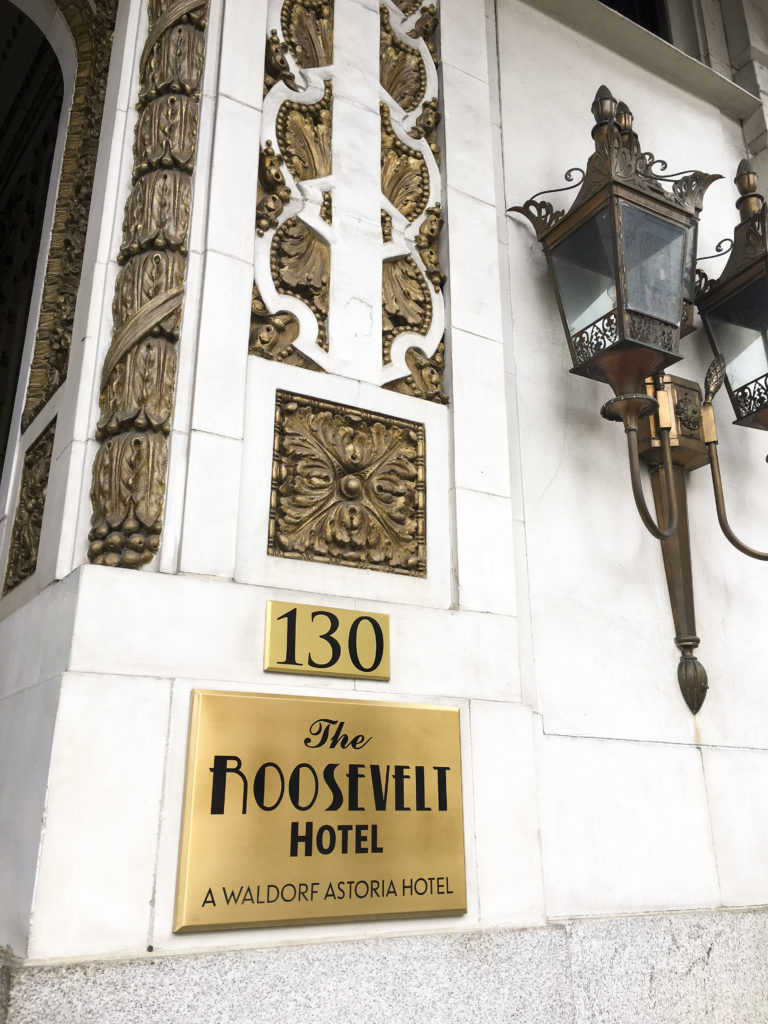 New Orleans Photo diary - The Roosevelt Hotel Waldorf Astoria | SamCora Blog 3