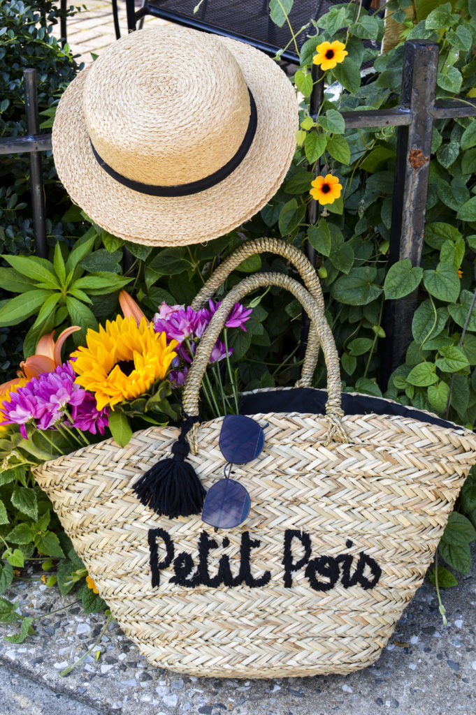 Petit Pois Straw basket tote, boater hat, Gentle monster sunglasses song of style   SamCora Blog