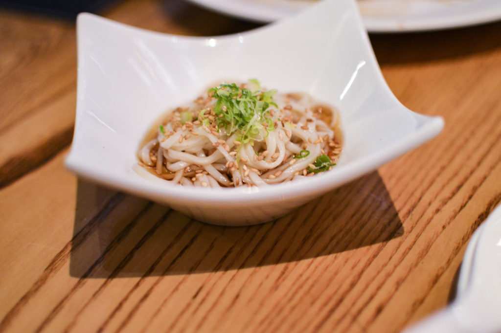 Nobu 57 - Omakase 140 Cold housemade wheat noodles | SamCora Blog