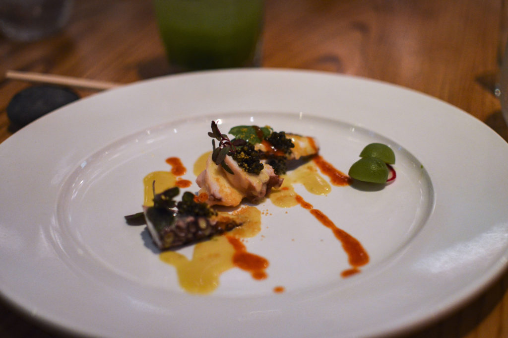 Nobu 57 - Omakase 140 Octopus with spicy ponzy and honey | SamCora Blog