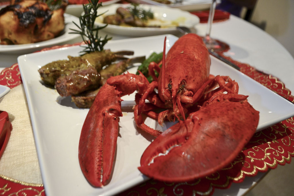 Thanksgiving Dinner - Surf and Turf - Lobster mac and cheese, lamb chops | SamCora 2