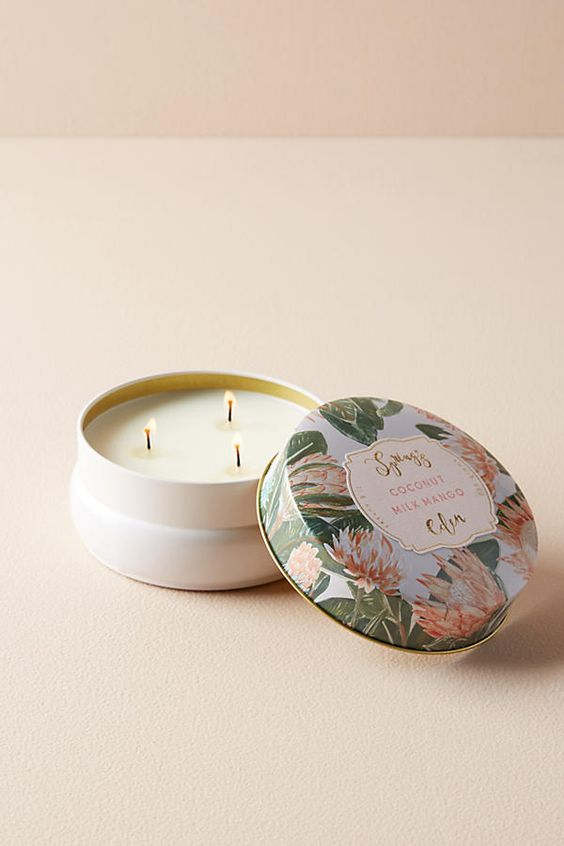 Stocking Stuffers - Coconut milk mango spring eden candle | SamCora Blog