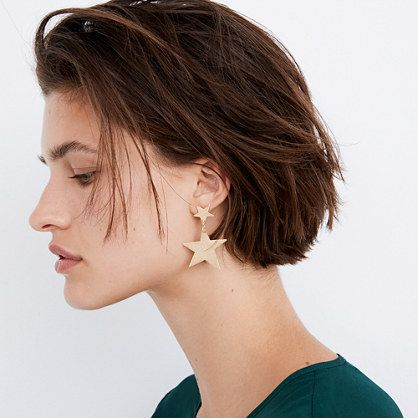 Stocking stuffers - Madewell star statement earrings | SamCora Blog